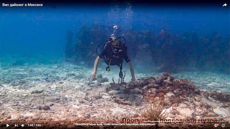 Погружение в подводном музее видео